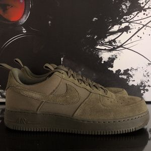 NIKE AIR FORCE 1 AF1 07 CANVAS MEDIUM OLIVE